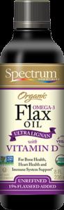 Organic Ultra Lignan with Vitamin D Omega-3 Flax Oil