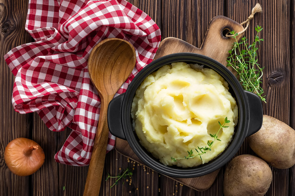 Olive Oil and Herb Smashed Potatoes